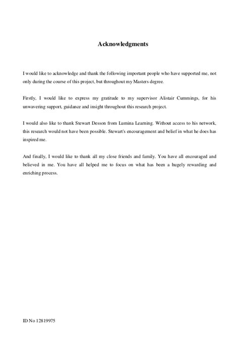 acknowledgement dissertation template image collections