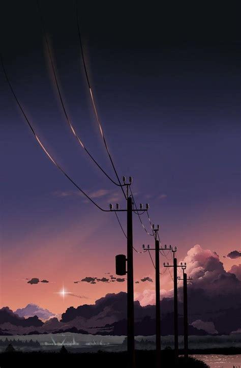 anime sky wallpaper sunset animewallpaper sunset