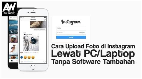 cara upload video di youtube gratis cara upload foto di instagram lewat pc laptop tanpa