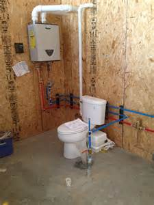 Garage Bathroom Plumbing Excavator And Bill S Come True
