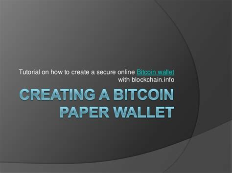 How To Make A Paper Wallet Bitcoin - bitcoin paper wallet