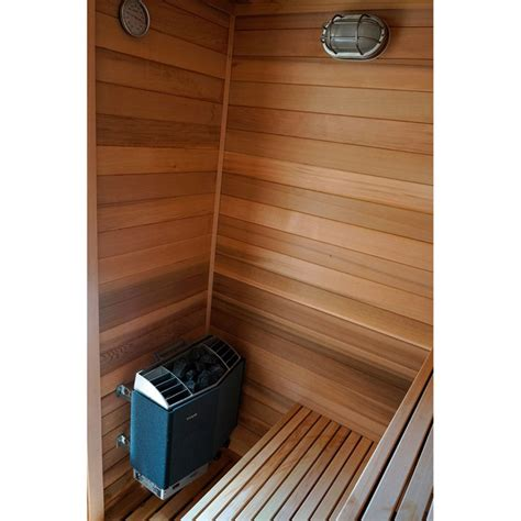 4 x4 freestanding pre fab sauna kit heater accessories