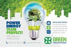 green energy flyer bundle templates  images green