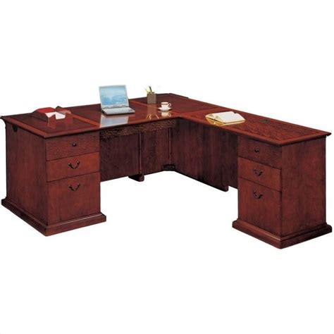 desk l flexsteel mar executive l shaped desk 7302 4x