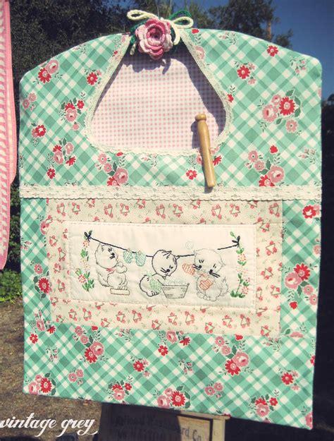 pattern clothespin bag vintage grey a vintage inspired clothespin bag