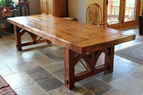 custom farmhouse dining table by sentinel tree woodworks