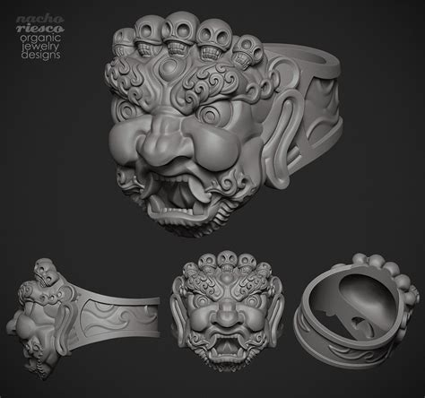 zbrush ring tutorial tibetan mask ring b nacho riesco http riesconacho wix