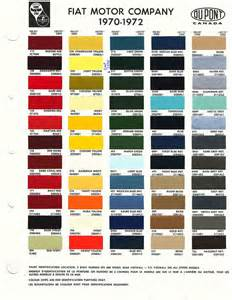 Fiat Paint Code Fiat Color Codes 70 72 On The Side Color