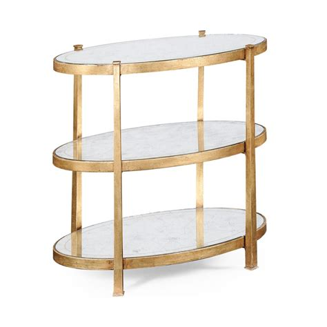 3 tier side table 3 tier glass side table gold swanky interiors