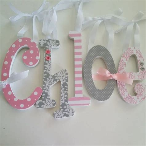 Decorating Wooden Letters For Nursery 17 Best Images About Deco Lettre On Pinterest Fox Nursery Wooden Wall Letters And Custom Fonts