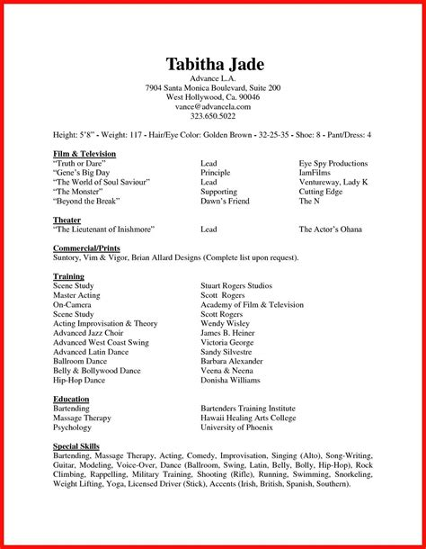List Of Skills For Resume
