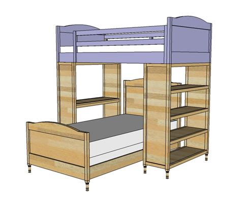 Diy Bunk Bed Plans Bed Plans Diy Blueprints Free Plans For Building Bunk Beds
