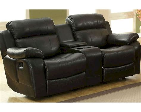 black reclining loveseat black double glider reclining loveseat marille by