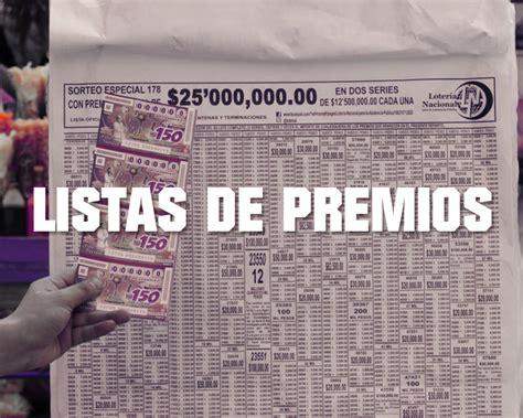 lista de sorteo calimax enero de 2016 listas de premios de los sorteos de loter 237 a nacional