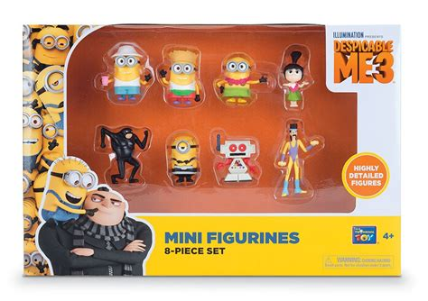 Set Figure Despicable Me 3 Minion Item moi moche et m 233 chant 3 pack 8 figurines 5 cm