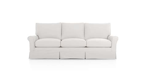 crate and barrel replacement slipcovers slipcover only for harborside 3 seat sofa crate and barrel