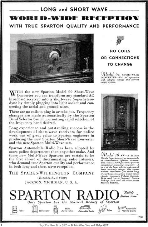 Sparton Model 60 Short-Wave Converter Radio Advertisement