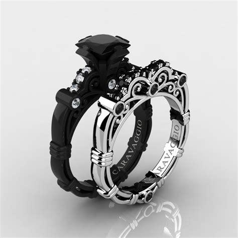 Set Perhiasan Black Gold masters caravaggio 14k black and white gold 1 25 ct princess black and white