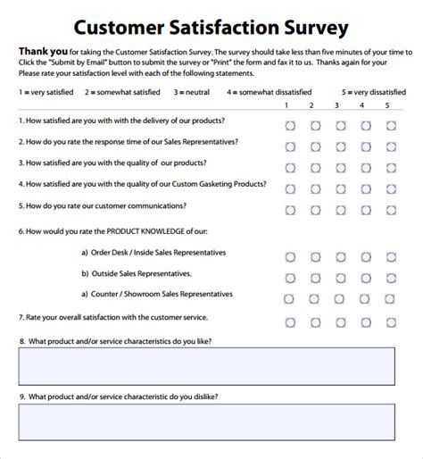 32 sample questionnaire templates in microsoft word