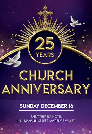 pastor anniversary  brochure program  elegantflyer