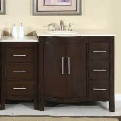 silkroad exclusive 54 quot single bathroom vanity set