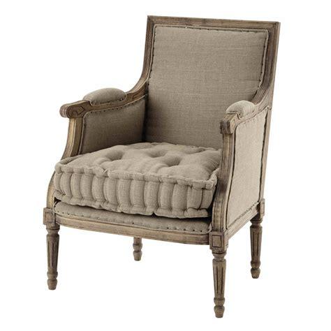 linen armchair linen armchair casanova maisons du monde
