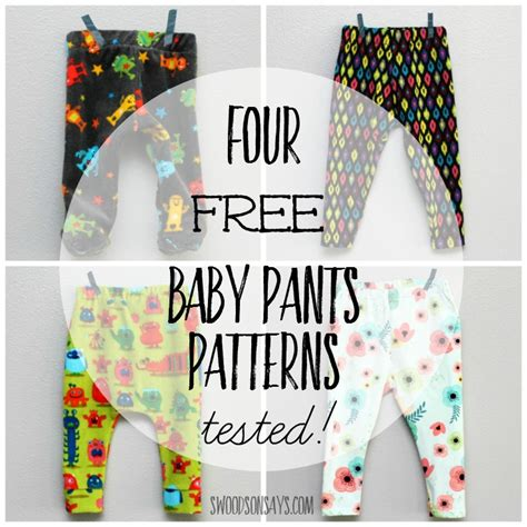 pattern sewing baby free 4 free baby pants sewing patterns tested