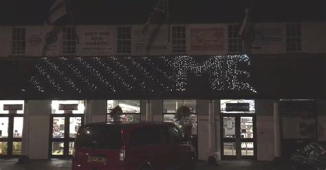 falmouth trago mills store accidentally wishes shoppers  early merry christmas cornwall
