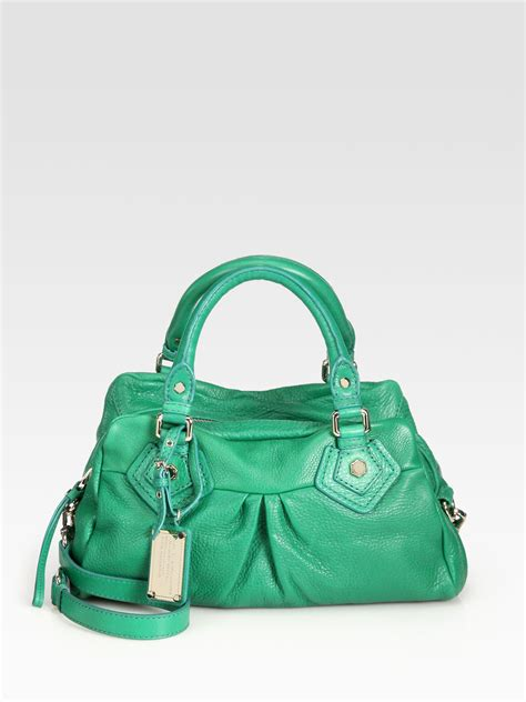 Marc Classic Q Baby Groovee Bag Green Preloved lyst marc by marc classic q baby groovee bag in green
