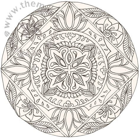 color mandala tattoo free coloring pages of mandala pretty