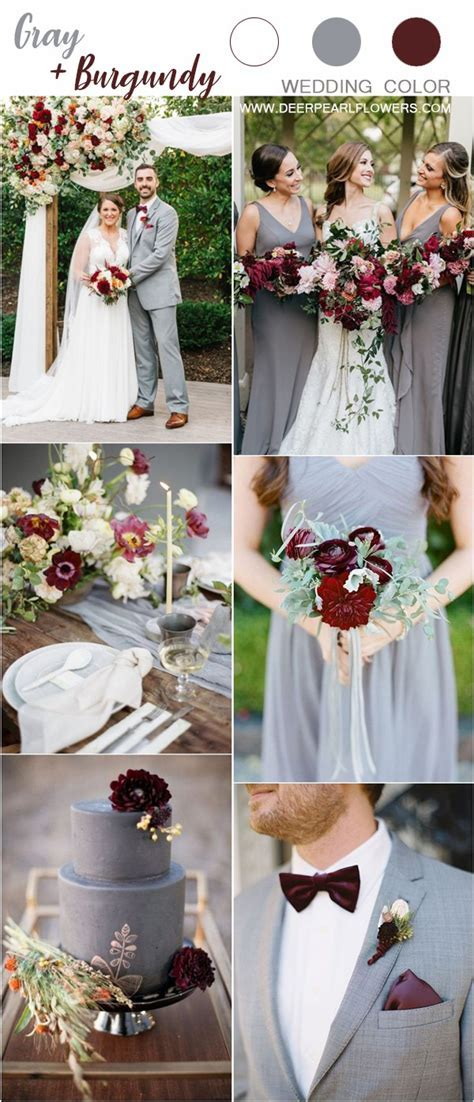 Top 6 Grey Wedding Color Palette Ideas   Deer Pearl Flowers
