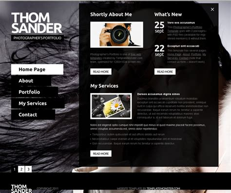 templates for photographers 30 free premium photography html website templates