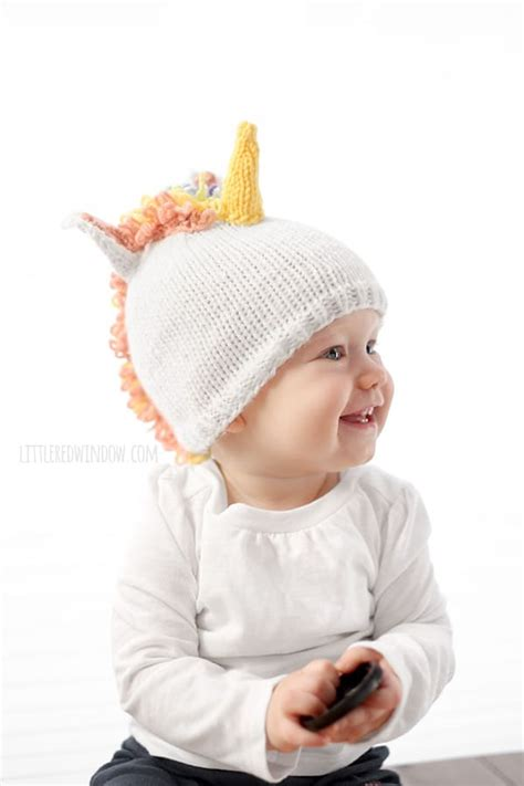 pattern for unicorn hat magical unicorn hat knitting pattern little red window