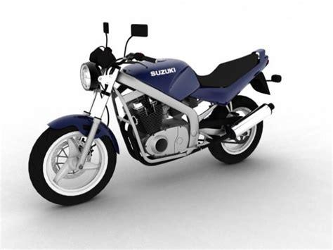 93 Suzuki Gs500 Suzuki Gs500 1994 3d Model Max Obj 3ds C4d Cgtrader