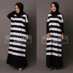Meyriska Dress Ori 4 Warna Gamis Stripe new aimee by queenalabels jual busana muslim