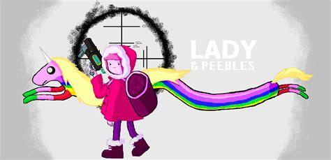 Adventure Time Lady And Peebles Lady Rainicorn Is | adventure time lady and peebles by icanhascheezeburger on