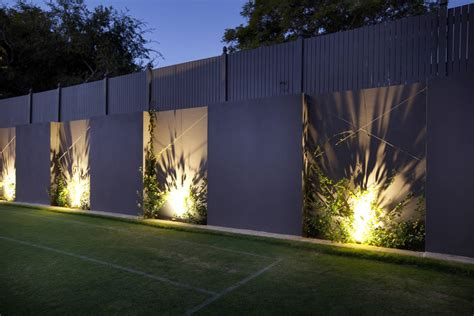 Outdoor Feature Wall Google Search Landscape Garden Wall Lighting Ideas