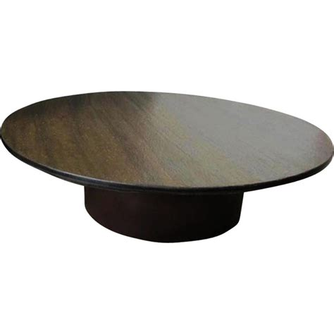 Table Basse Ronde En Acier by Table Basse Ronde En Ardoise Et Acier Brun 1970 Design