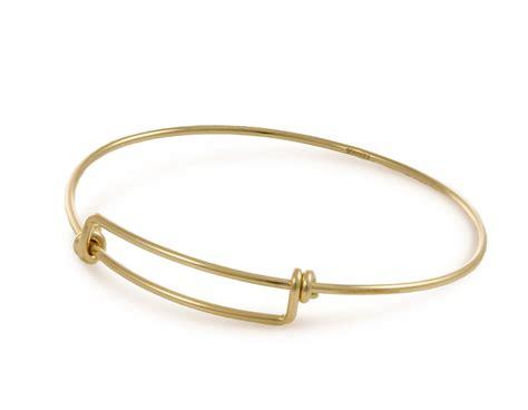 adjustable 7 8 inch charm bangle bracelet gold filled