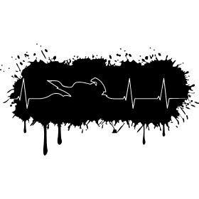 Motorrad Ekg Tattoo by Farbklecks Biker Herzschlag Eine Herzfrequenz Mit Einen