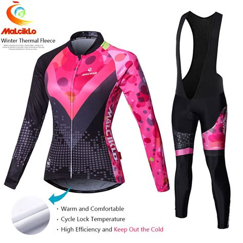 cycling suit jacket malciklo pro fabric winter fleece cycling suit jersey