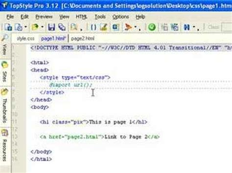 css tutorial link stylesheet link to external css files youtube