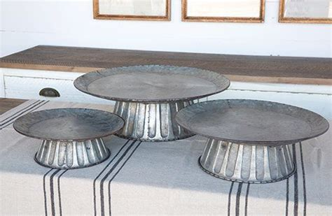 farmhouse d 233 cor 2 tier large tin lazy susan organizer 1000 ideas about metal cake stand on pinterest cake