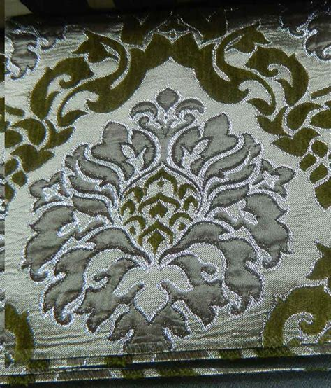 green damask upholstery fabric chansons silk velvet multicolor shimmer damask upholstery
