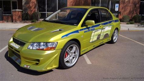 mitsubishi evo 7 2 fast 2 furious now you can own paul walker s mitsubishi evo from 2 fast 2