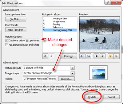 update layout in powerpoint create digital photo albums in powerpoint 2010