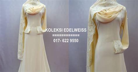 Edelweis Seri 2 koleksi edelweiss baju pengantin baju nikah dan tunang muslimah terkini preorder 12 warna