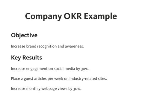 personal objectives for resume okr objectives and key results effective goal setting