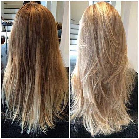 foils with red blonde chin length hair die 25 besten ideen zu stufenschnitt lange haare auf