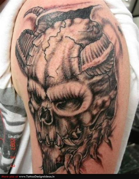 devil skull tattoo designs images designs